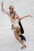 Charlene Guignard and Marco Fabbri of Germany compete in the Ice Dance Short Dance during ISU World Figure Skating Championships at Saitama Super...