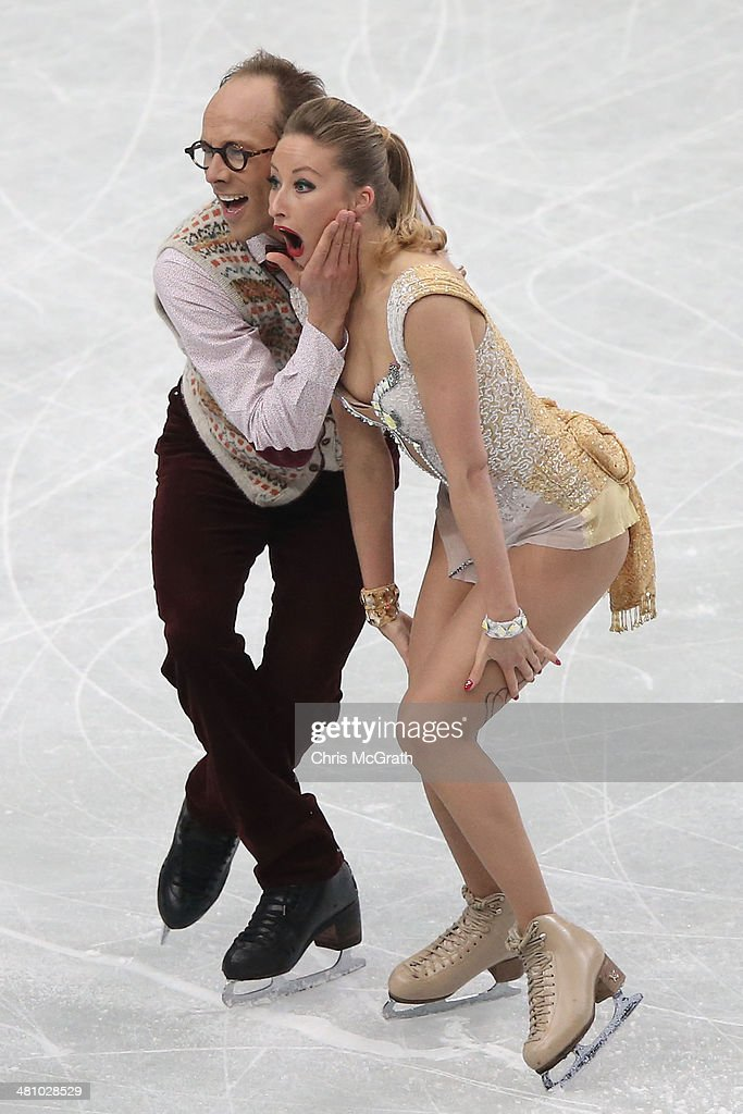 Charlene Guignard and <a gi-track='captionPersonalityLinkClicked' href=/galleries/search?phrase=Marco+Fabbri&family=editorial&specificpeople=7465993 ng-click='$event.stopPropagation()'>Marco Fabbri</a> of Germany compete in the Ice Dance Short Dance during ISU World Figure Skating Championships at Saitama Super Arena on March 28, 2014 in Saitama, Japan.