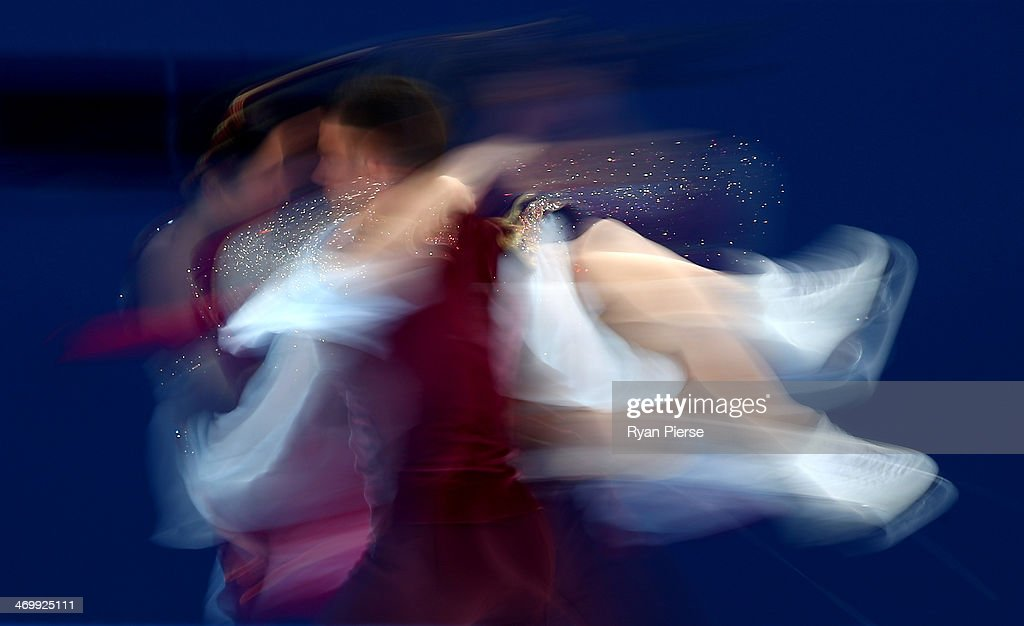 Charlene Guignard and <a gi-track='captionPersonalityLinkClicked' href=/galleries/search?phrase=Marco+Fabbri&family=editorial&specificpeople=7465993 ng-click='$event.stopPropagation()'>Marco Fabbri</a> of Italy compete in the Figure Skating Ice Dance Free Dance on Day 10 of the Sochi 2014 Winter Olympics at Iceberg Skating Palace on February 17, 2014 in Sochi, Russia.