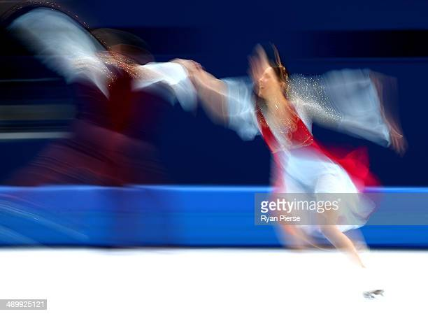 Charlene Guignard and Marco Fabbri of Italy compete in the Figure Skating Ice Dance Free Dance on Day 10 of the Sochi 2014 Winter Olympics at Iceberg...