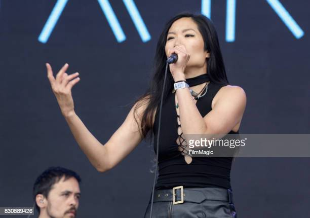 Charlene Kaye of San Fermin performs on the Lands End Stage during the 2017 Outside Lands Music And Arts Festival at Golden Gate Park on August 12...
