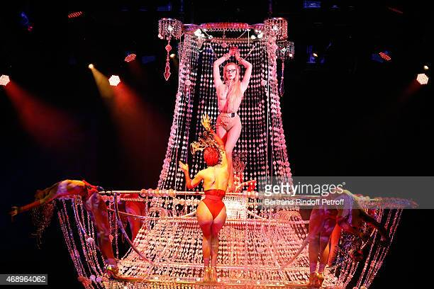 Charlene Klemm and Dancers perform on stage during the 'Paris Merveilles' Lido New Revue Opening Gala on April 8 2015 in Paris France