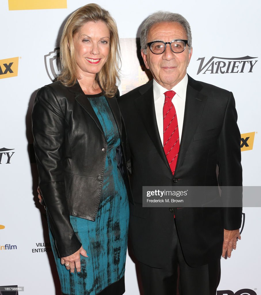 Charlene Papazian (L) and Steve Papazian, President, Worldwide Physical Production for Warner Bros. Picitures, attend the Australians in Film Benefit Dinner at the at Intercontinental Hotel on October 24, 2013 in Beverly Hills, California.