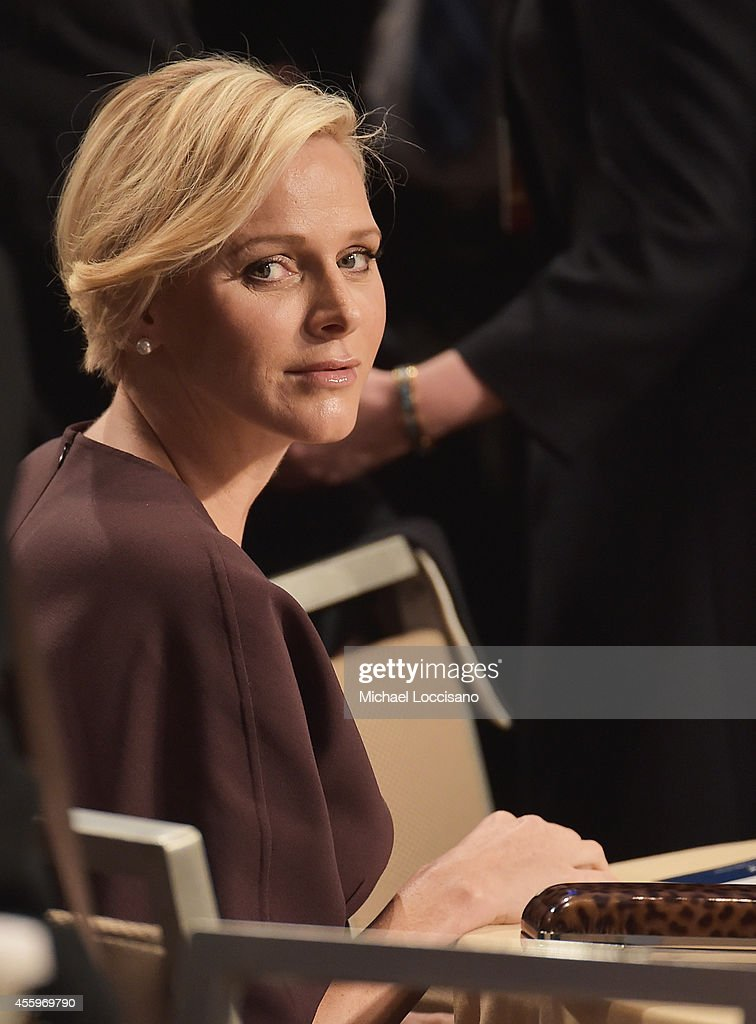 <a gi-track='captionPersonalityLinkClicked' href=/galleries/search?phrase=Charlene+-+Princess+of+Monaco&family=editorial&specificpeople=726115 ng-click='$event.stopPropagation()'>Charlene</a>, Princess Of Monaco attends the 10th Annual Meeting of the Clinton Global Initiative at The at Sheraton New York Hotel & Towers on September 22, 2014 in New York City.