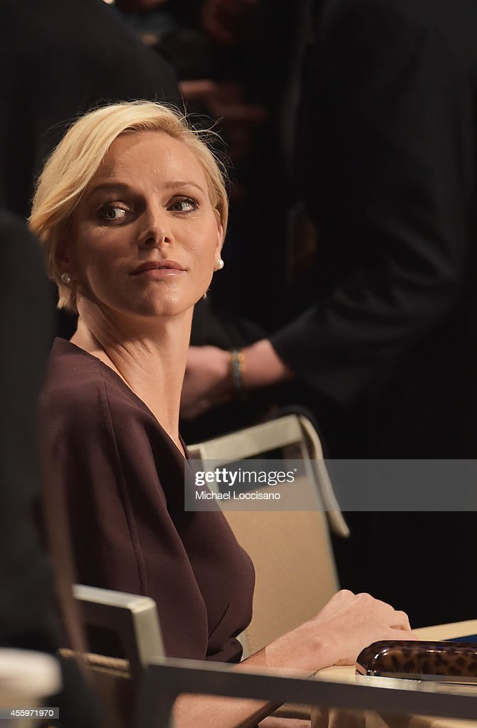 Charlene, Princess Of Monaco attends the 10th Annual Meeting of the Clinton Global Initiative at The at Sheraton New York Hotel & Towers on September 22, 2014 in New York City.