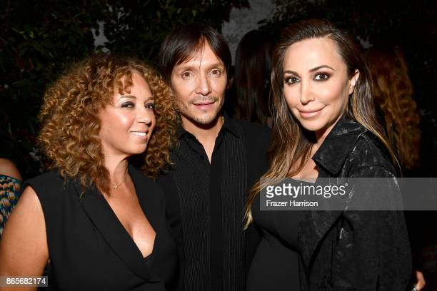 Charlene Roxborough Ken Paves and Diana Madison at the grand opening of the new Ken Paves Salon hosted by Eva Longoria on October 23 2017 in Los...
