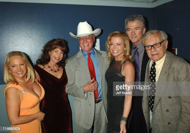 Charlene Tilton Mary Crosby Larry Hagman Sheree J Wilson Patrick Duffy and Ken Kercheval of 'Dallas'