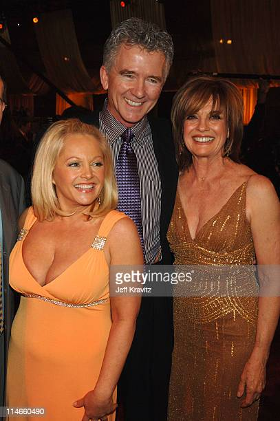Charlene Tilton Patrick Duffy and Linda Gray during 2006 TV Land Awards Backstage and Audience at Barker Hangar in Santa Monica California United...