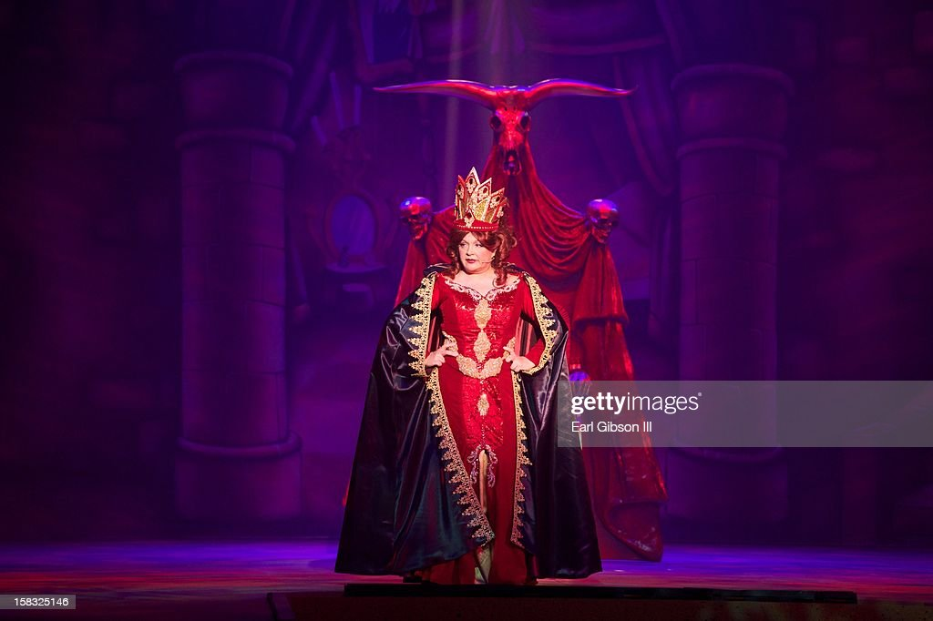 <a gi-track='captionPersonalityLinkClicked' href=/galleries/search?phrase=Charlene+Tilton&family=editorial&specificpeople=216512 ng-click='$event.stopPropagation()'>Charlene Tilton</a> performs as 'The Wicked Queen' for the play 'A Snow White Christmas' at the Pasadena Playhouse on December 12, 2012 in Pasadena, California.