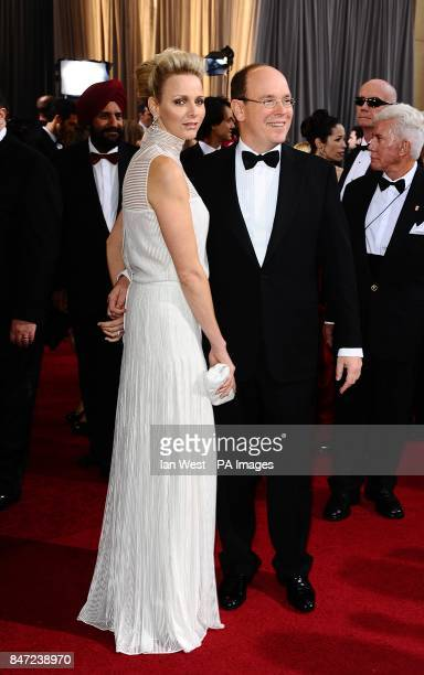 Charlene Wittstock and Prince Albert of Monaco arriving for the 84th Academy Awards at the Kodak Theatre Los Angeles