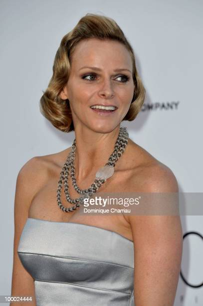 Charlene Wittstock arrives at amfAR's Cinema Against AIDS 2010 benefit gala at the Hotel du Cap on May 20 2010 in Antibes France