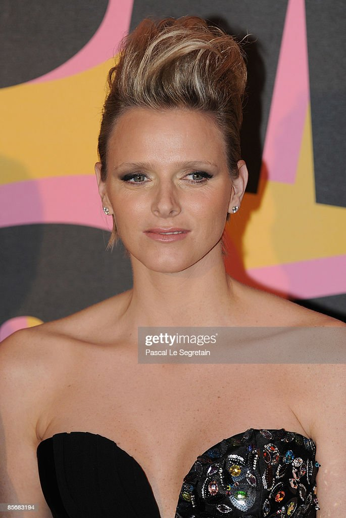 Charlene Wittstock arrives at the 2009 Monte Carlo Rock' N Rose Ball held at The Sporting Monte Carlo on March 28, 2009 in Monte Carlo, Monaco.