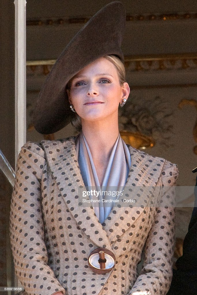 Charlene Wittstock attends the National Day celebrations 2010 in Monaco.