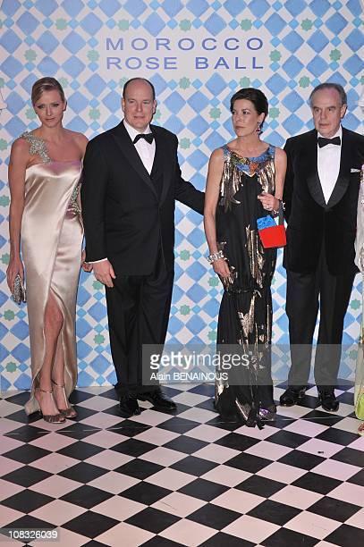 Charlene Wittstock Prince Albert II of Monaco Princess Caroline of Hanover French Culture Minister Frederic Mitterand and Princess Lalla Joumala...