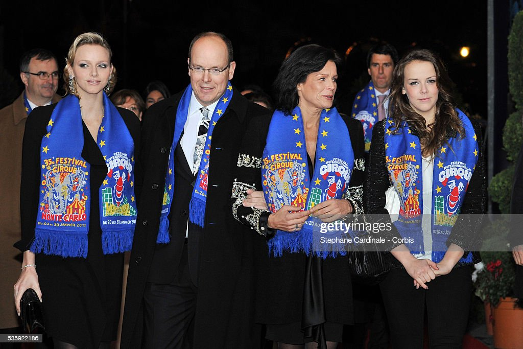 Charlene Wittstock, Prince Albert II of Monaco, Princess Stephanie of Monaco and Pauline Ducruet attend the Gala Ceremony of the Monte-Carlo 35th International Circus Festival 2011.