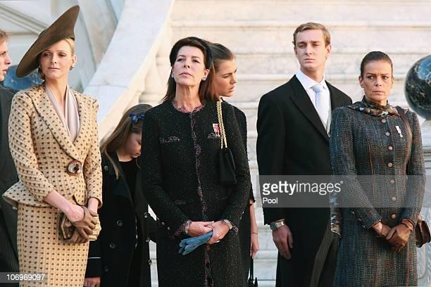 Charlene Wittstock Princess Alexandra of Hanover Princess Caroline of Hanover Charlotte Casiraghi Pierre Casiraghi and Princess Stephanie of Monaco...