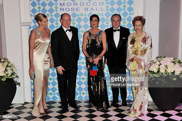 Charlene WittstockPrince Albert II of Monaco Princess Caroline of Hanover French Culture Minister Frederic Mitterand and Princess Lalla Joumala...
