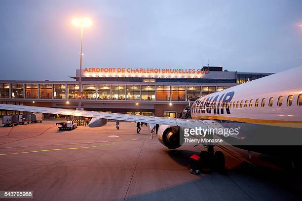 Charleroi Belgium August 19 2011 Passengers embark in a boeing 737800 of Ryanair in Charleroi_Brussels south airport