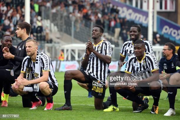 20170813 Charleroi Belgium / Sporting Charleroi v Rsc Anderlecht / 'nDavid POLLET Amara BABY Celebration'nFootball Jupiler Pro League 2017 2018...
