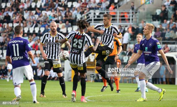 20170813 Charleroi Belgium / Sporting Charleroi v Rsc Anderlecht / 'nDorian DESSOLEIL Nurio FORTUNA Javier MARTOS Lukasz TEODORCZYK'nFootball Jupiler...