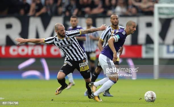 20170813 Charleroi Belgium / Sporting Charleroi v Rsc Anderlecht / 'nDorian DESSOLEIL Sofiane HANNI'nFootball Jupiler Pro League 2017 2018 Matchday 3...