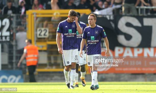 20170813 Charleroi Belgium / Sporting Charleroi v Rsc Anderlecht / 'nLeander DENDONCKER Adrien TREBEL Deception'nFootball Jupiler Pro League 2017...