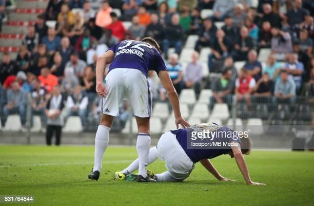 20170813 Charleroi Belgium / Sporting Charleroi v Rsc Anderlecht / 'nLeander DENDONCKER Lukasz TEODORCZYK Deception'nFootball Jupiler Pro League 2017...