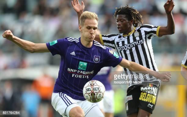 20170813 Charleroi Belgium / Sporting Charleroi v Rsc Anderlecht / 'nLukasz TEODORCZYK Nurio FORTUNA'nFootball Jupiler Pro League 2017 2018 Matchday...