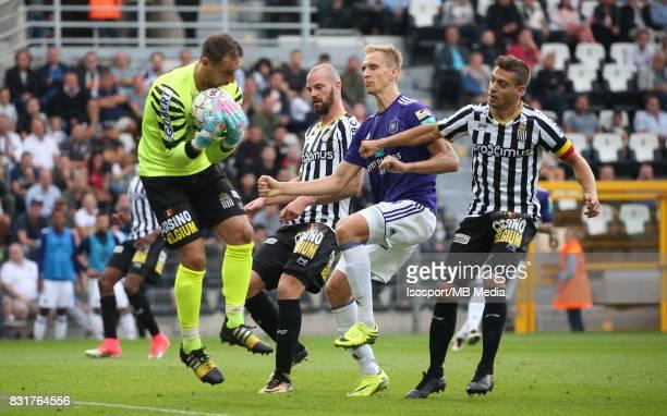 20170813 Charleroi Belgium / Sporting Charleroi v Rsc Anderlecht / 'nNicolas PENNETEAU Dorian DESSOLEIL Lukasz TEODORCZYK Javier MARTOS'nFootball...