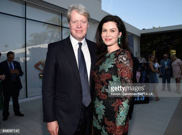 Charles 9th Earl Spencer and Karen Spencer attend the BBC America BAFTA Los Angeles TV Tea Party 2017 at The Beverly Hilton Hotel on September 16...