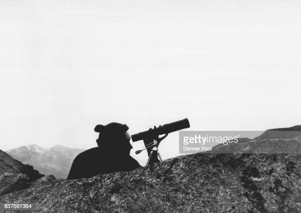 Charles A Dummit 2801 Niagara St was one of the Denverites on hand to witness climb of Diamond Face of Long's Peak He uses Telescope to keep track of...