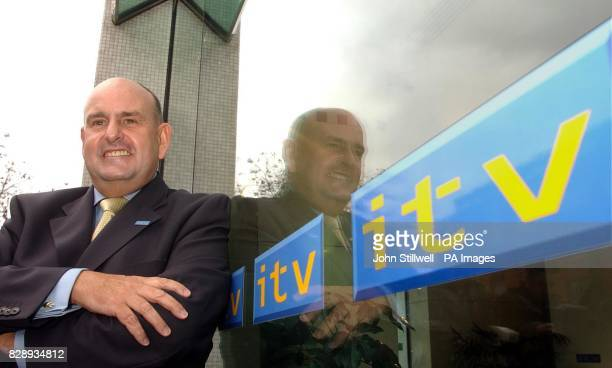 Charles Allen the new Chief Executive Officer of Independent Television takes up his new post at the studios at the South Bank in Central London...