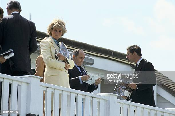 Charles and Diana at a polo match in Windsor United Kingdom on July 26th 1987