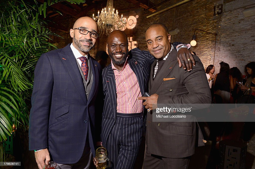Charles Antoine Forbin, Ron Delice and Erik LaRay Harvey attends the HBO Boardwalk Empire Fashion Fete with June Ambrose at Houston Hall on September 4, 2013 in New York City.