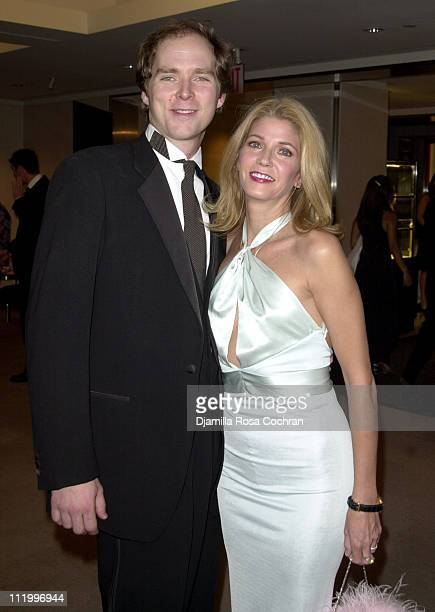 Charles Askegard and Candace Bushnell during Garland Appeal Gala in New York City at Christie's in New York City New York United States