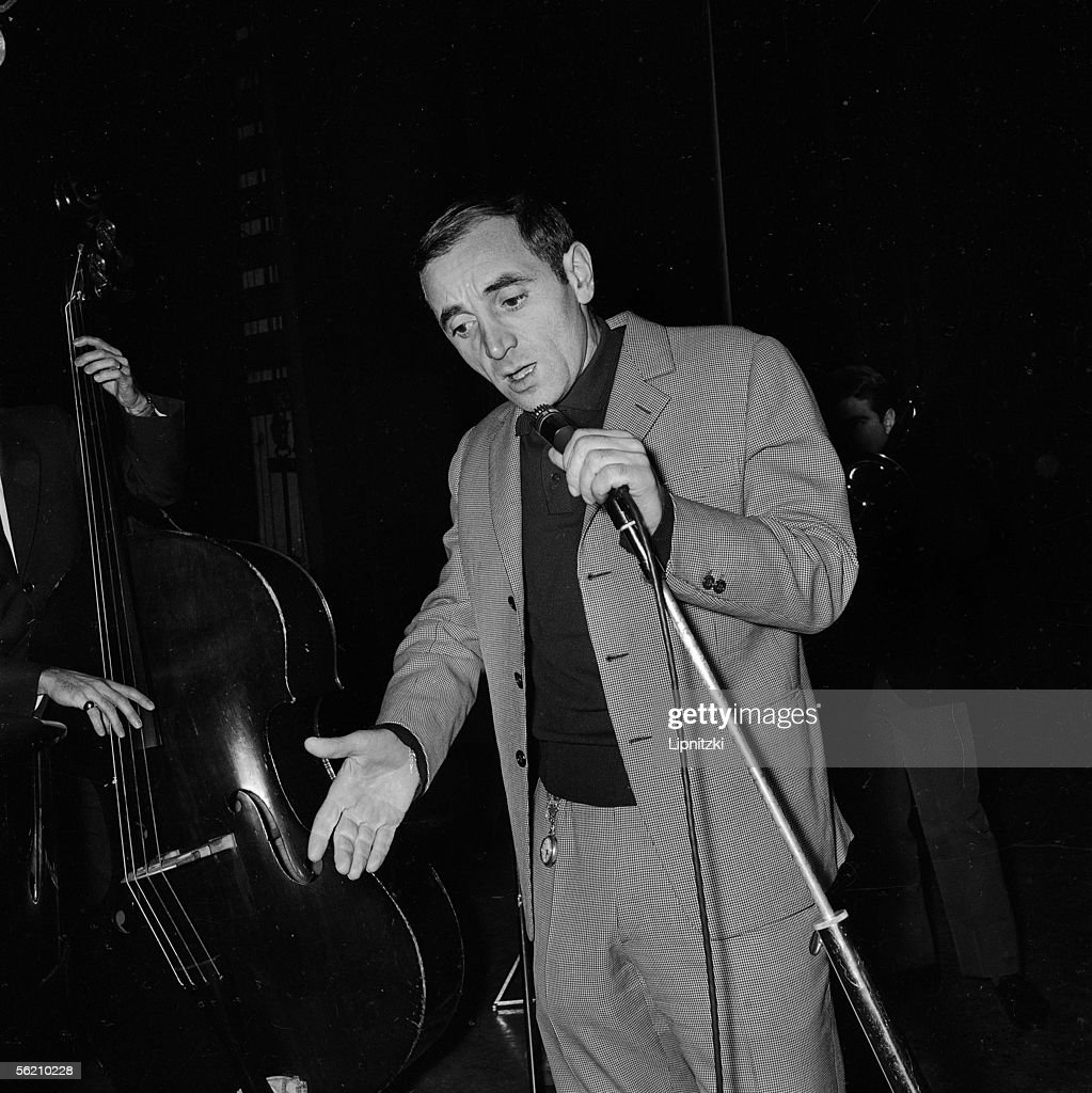 Charles Aznavour French singer composersongwriter and actor Paris Olympia January 1963