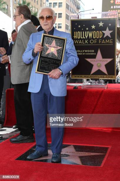 Charles Aznavour Honored With Star On The Hollywood Walk Of Fame on August 24 2017 in Hollywood California