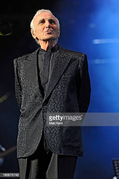 Charles Aznavour performs at Royal Albert Hall on October 25 2013 in London England