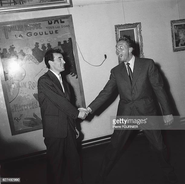 Charles Aznavour with Charles Trenet