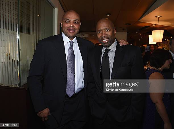 Charles Barkley and Kenny Smith attend the Turner Upfront 2015 at Madison Square Garden on May 13 2015 in New York City JPG