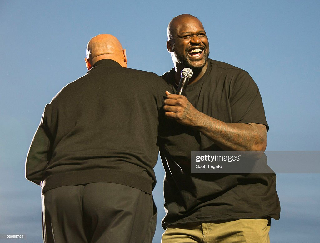 Charles Barkley and Shaquille O'Neal attend the 2015 March Madness Music Festival Day 3 on April 5 2015 in Indianapolis Indiana