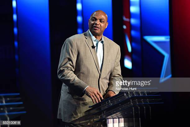Charles Barkley appears on stage during Turner Upfront 2016 show at The Theater at Madison Square Garden on May 18 2016 in New York City
