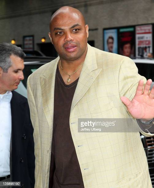 Charles Barkley arrives at 'Late Show With David Letterman' at the Ed Sullivan Theater on March 14 2011 in New York City