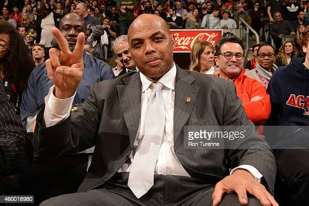 Charles Barkley attends the game between the Toronto Raptors and the Cleveland Cavaliers on December 5 2014 at the Air Canada Centre in Toronto...