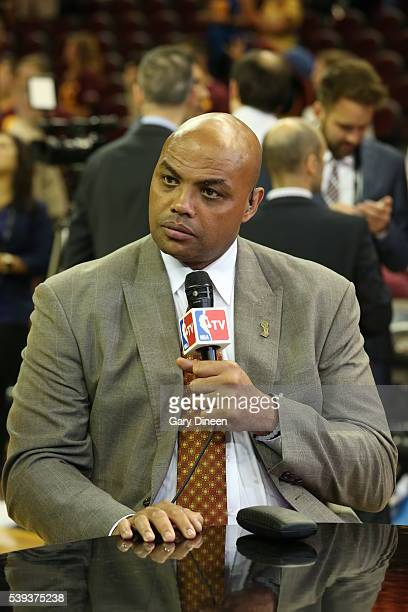 Charles Barkley is seen after Game Four between the Cleveland Cavaliers and the Golden State Warriors of the 2016 NBA Finals on June10 2016 at...