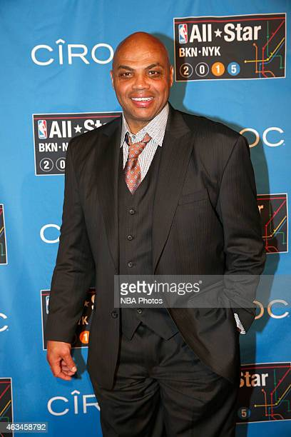 Charles Barkley poses for a photos on State Farm AllStar Saturday Night as part of the 2015 NBA AllStar Weekend on February 14 2015 at Barclays...