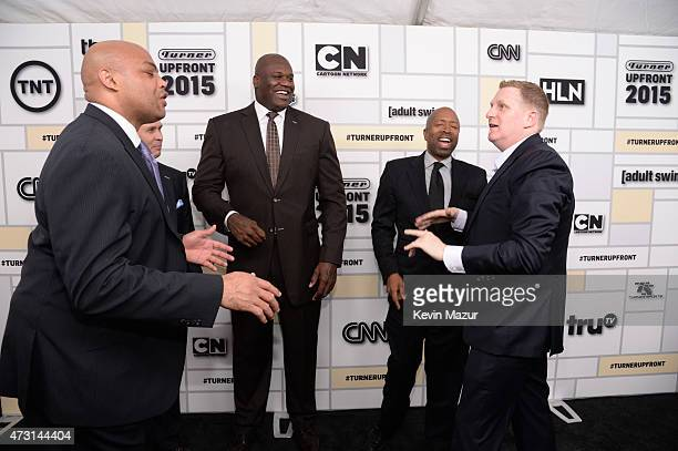 Charles Barkley Shaquille O'Neal Kenny Smith and Michael Rappaport attend the Turner Upfront 2015 at Madison Square Garden on May 13 2015 in New York...
