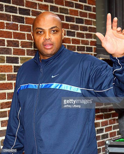 Charles Barkley visits 'Late Show With David Letterman' at Ed Sullivan Theater on October 25 2010 in New York City