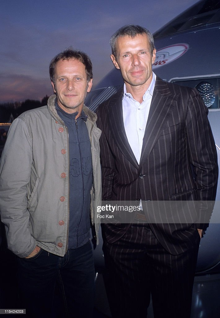 Charles Berling and Lambert Wilson during 25th Anniversary of the TGV at Trocadero in Paris France