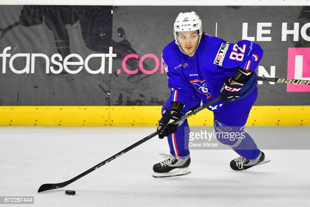 Charles Bertrand of France during the EIHF Ice Hockey Four Nations tournament match between France and Slovenia on November 9 2017 in Cergy France
